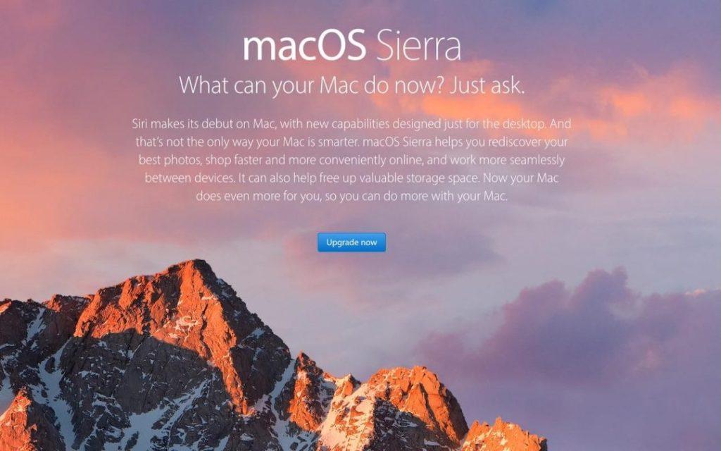 Download MacOS Sierra before High Sierra ships | AustinMacworks.com