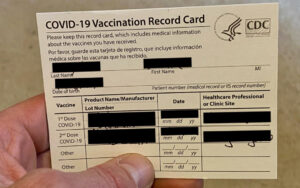 Resist the urge to post that photo—or one of you gleefully brandishing your card—on social media. The cards include your name, date of birth, vaccine location, and other personal information that could be used to steal your identity. | AustinMacWorks.com